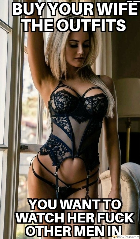blonde seductively posing in lace lingerie
