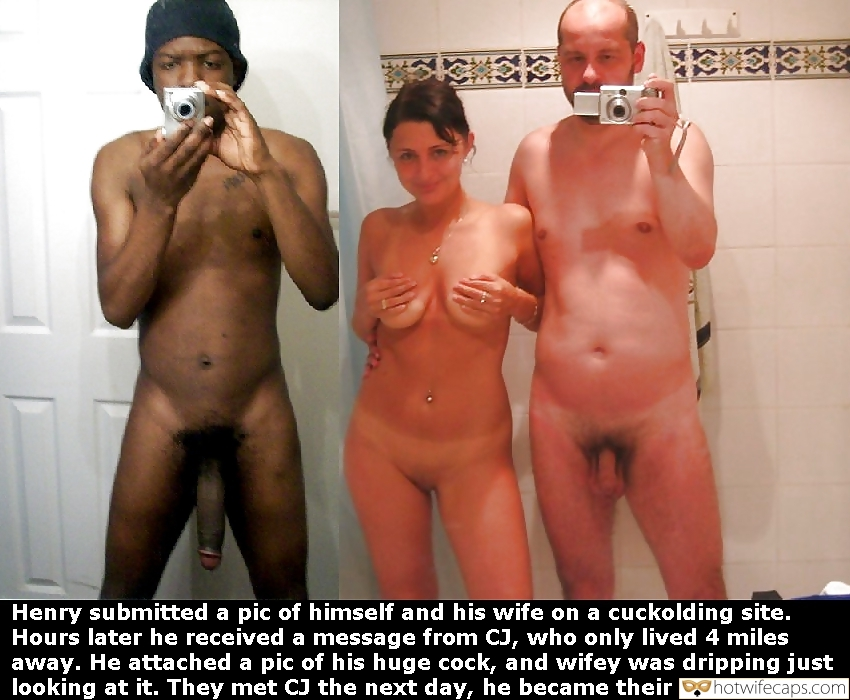 white couple exchange nude photos with hung black stud