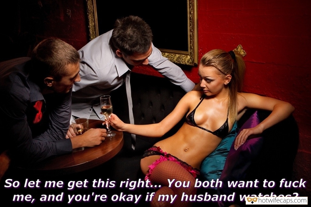hotwife cuckold femdom cuckold dirty talk cuckold bull  hotwife caption Slutwife making a deal with two bulls